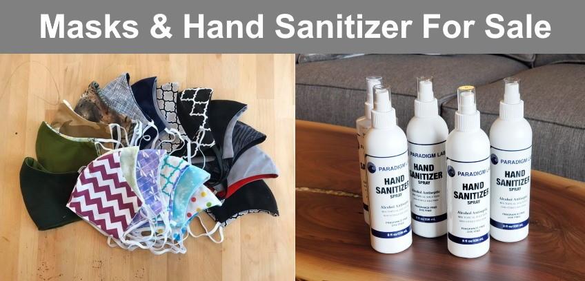 Masks & Hand Sanitizer For Sale