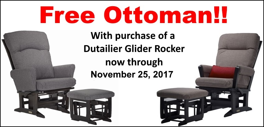 Dutailier Free Ottoman Event