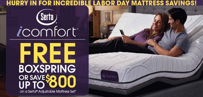 Serta Mattress Labor Day Savings