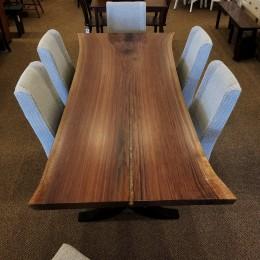 Walnut Live Edge SLAB Table Set
