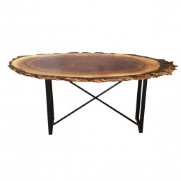 Walnut Live Edge Oval Coffee Table