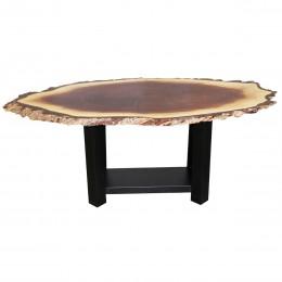Walnut Live Edge Oval Coffee Table