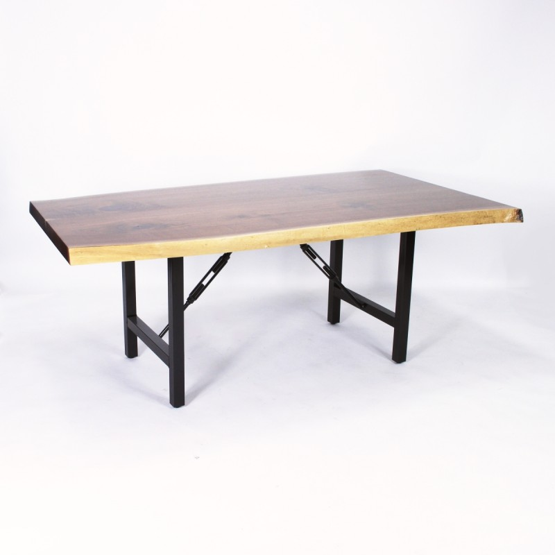 Walnut Bookmatch Live Edge Table Solid Hardwood  : 212 4680 Walnut Bookmatch Live Edge Table Front WEB 800x800 from www.countrylanefurniture.com size 800 x 800 jpeg 42kB