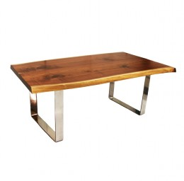 "Walnut 46"" x 80"" BOOKMATCH Live Edge Table"