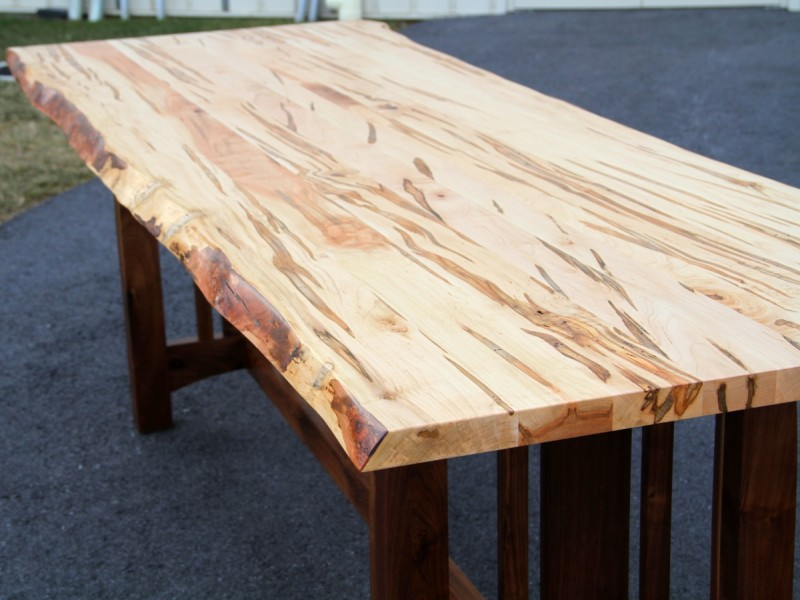 Kitchen Table Natural Maple Cabinets