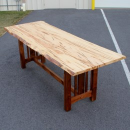 """Wormy Maple 36"""" x 108"""" Live Edge Table"""