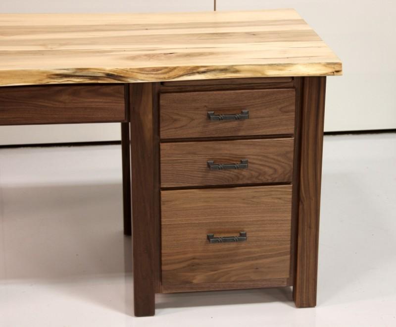 Custom Walnut Maple Live Edge Desk