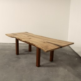 Wormy Maple Live Edge Extension Table