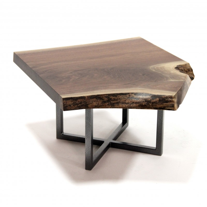 Walnut Live Edge Slab Coffee Table Amish Live Edge Coffee Table Amish Furniture Country