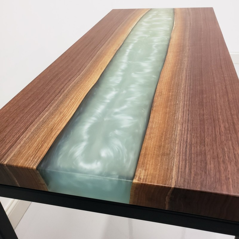 Walnut Amp Epoxy River Hall Table Epoxy River Hall Table