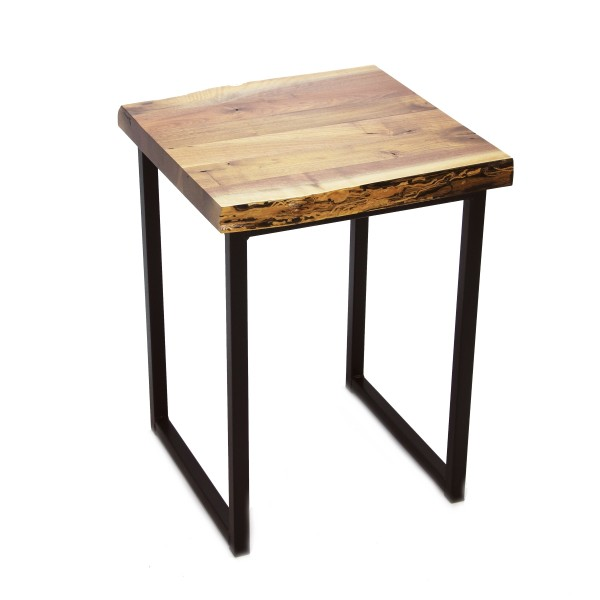 Walnut Small Live Edge End Table