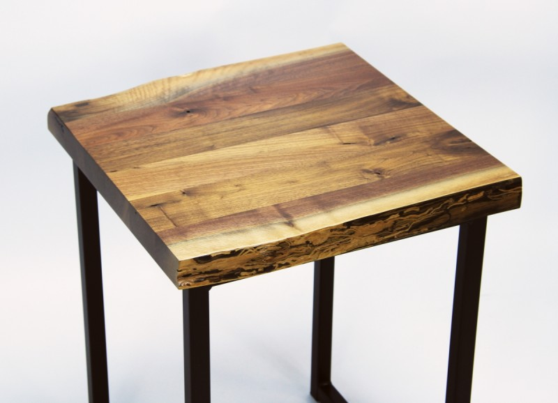 ... Walnut Small Live Edge End Table ...