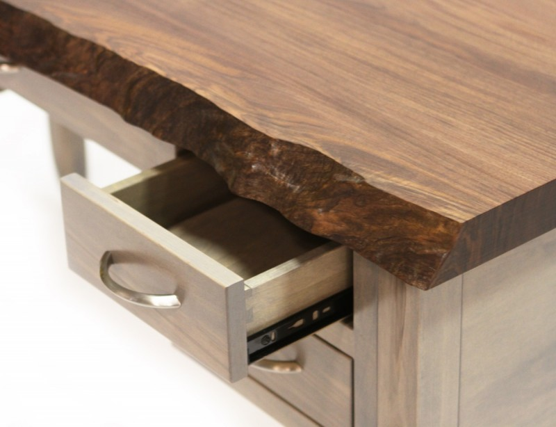 Walnut Live Edge Writing Desk Country Lane Furniture