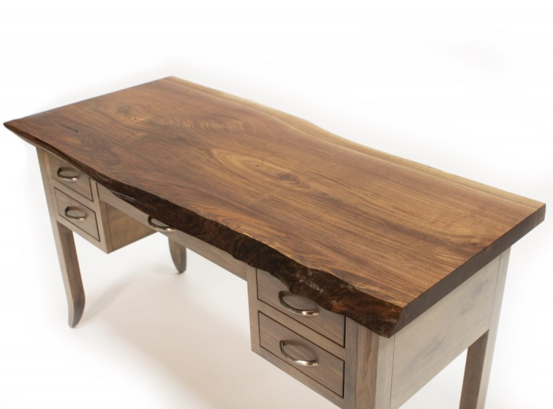 ... Walnut Live Edge Writing Desk ...