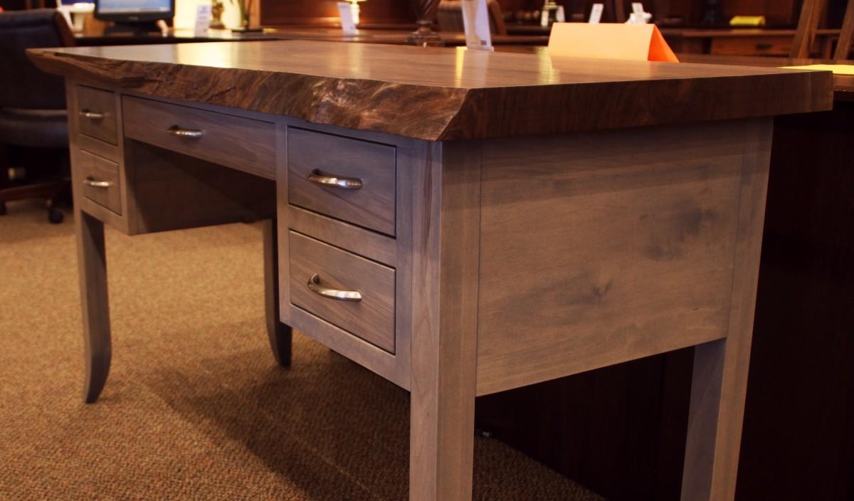 Walnut Live Edge Writing Desk Country Lane Furniture