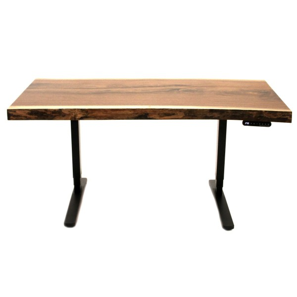 Live Edge Walnut Standing Desk Country Lane Furniture