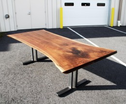 Custom Walnut Bookmatched Live Edge Table