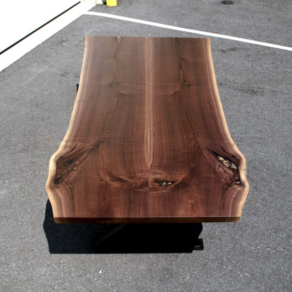 Walnut Bookmatched Live Edge Table