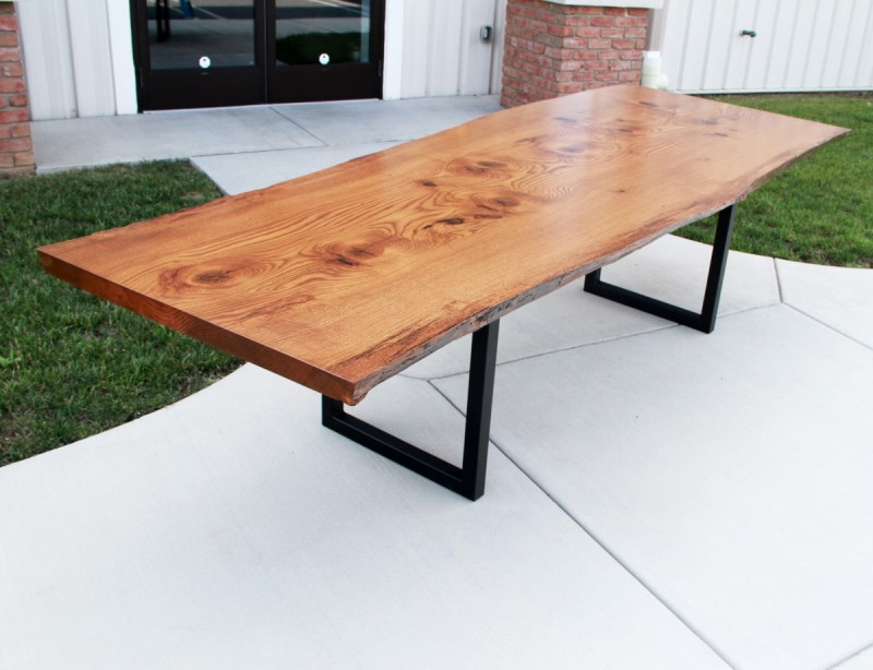 Live Edge Pin Oak Table Solid Hardwood Furniture