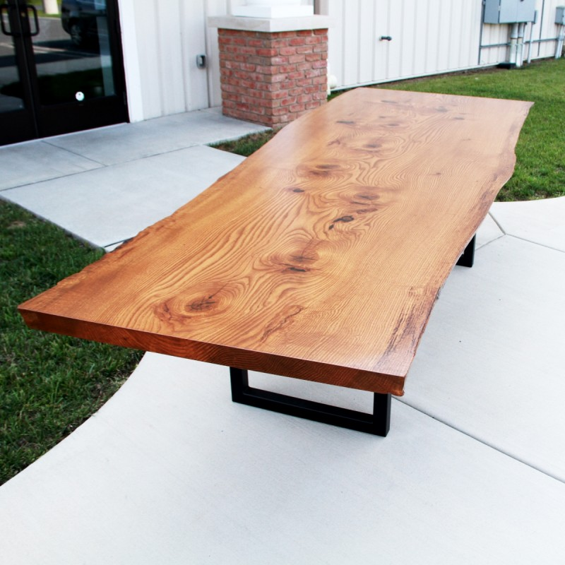 live edge pin oak table