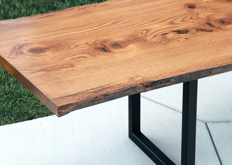 Live Edge Pin Oak Table Solid Hardwood Furniture Locally Handcrafted Tables