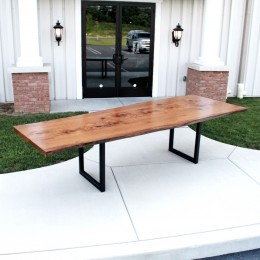 Pin Oak Live Edge Conference Table