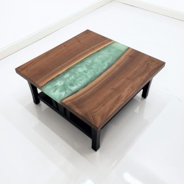 Walnut & Epoxy River Coffee Table
