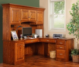 Fulton Ave Corner Desk with hutch