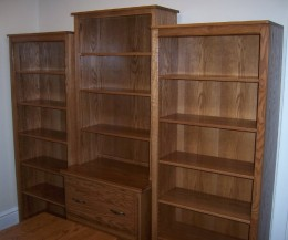 Custom Wall Unit With File Cabinet