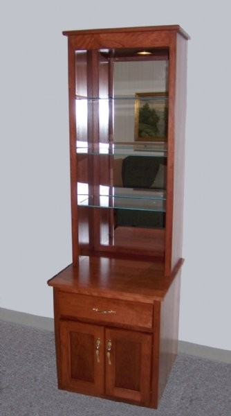 Custom Cherry Display Cabinet