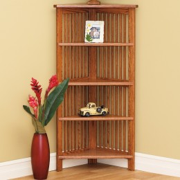Mission Corner Bookcase