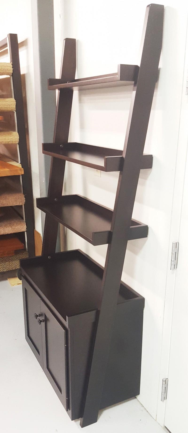 Ladder Shelf Wall With Storage Amish Made Ladder Shelf