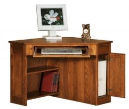 Custom Mission Corner Computer Desk