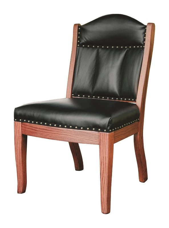 Low Back Client Side Chair Solid Hardwood Amish Made Country Lane Furniture