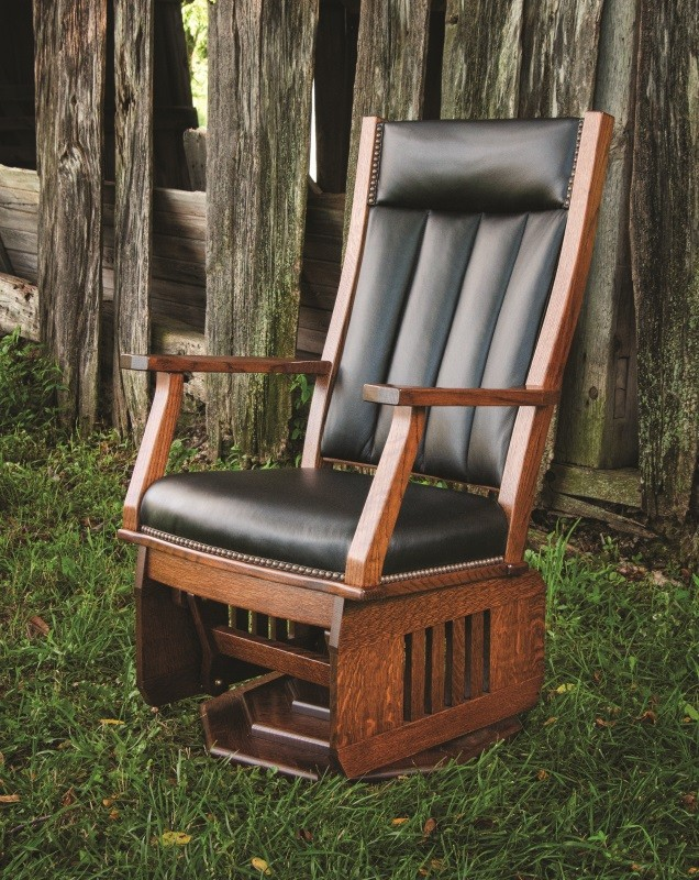 Mission Swivel Glider Rocker | Amish Crafted swivel Glider ...