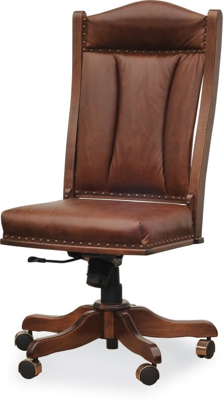 High Back Side Desk Chair Country Lane Furniture