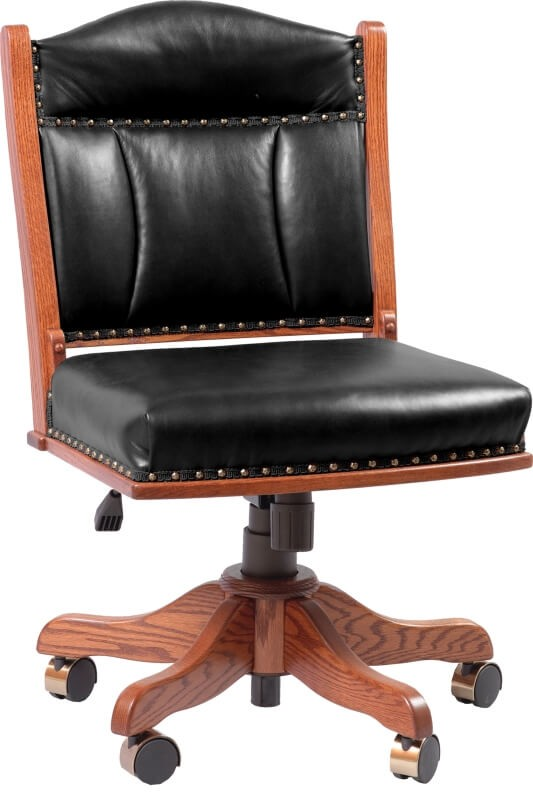 Edelweiss Desk Chair Amish Crafted Desk Chair Solid