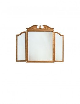 Colonial Pediment Tri-View Mirror