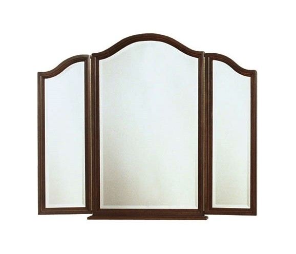 Colonial arch tri view mirror country lane furniture for Mirror 600 x 600