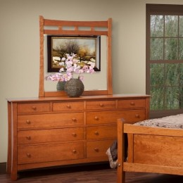Madison Ave Triple Dresser with Landscape Mirror