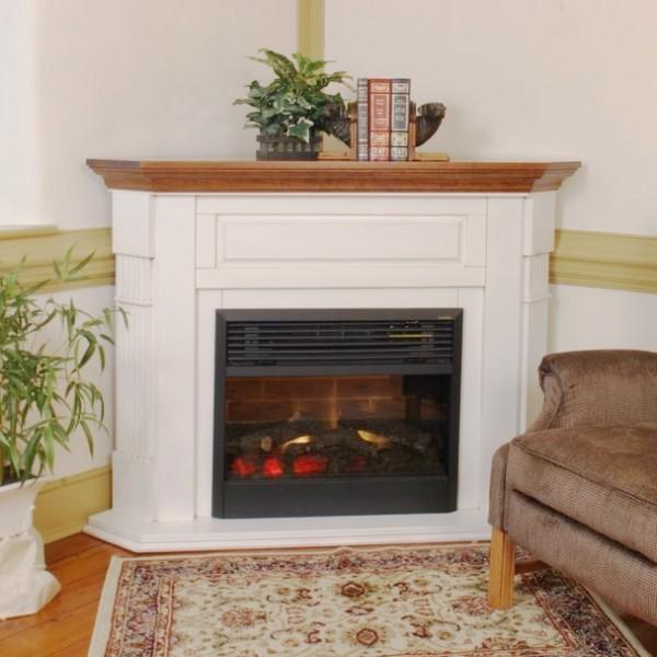 Fluted Corner Fireplace Amish Made Corner Mantel