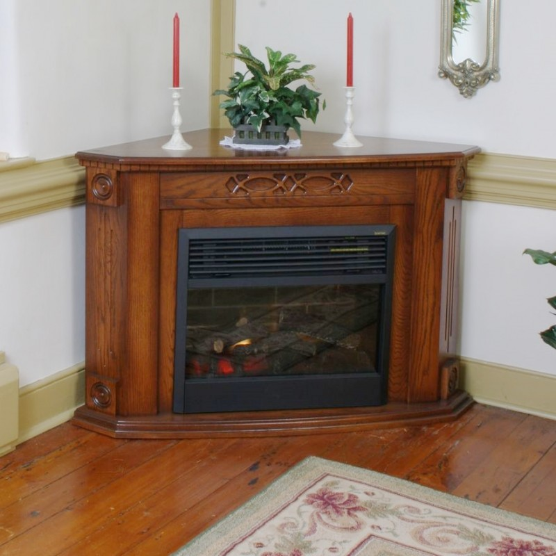 Heritage Corner Fireplace | Amish Handcrafted | Solid Hardwood ...