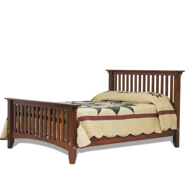 Deluxe Mission Bed | Amish Handcrafted | Solid Hardwood ...