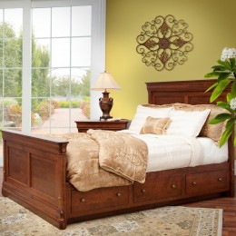 Le Chateau Panel Bed with Drawers
