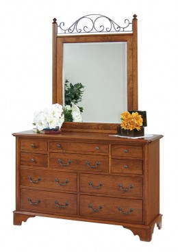 Cambridge Double Dresser and Vertical Iron Mirror