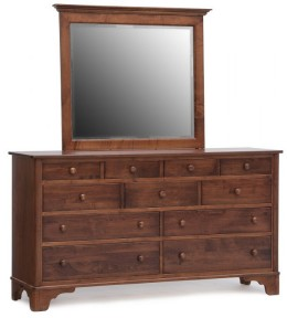 Yorktowne Triple Dresser and Landscape Mirror