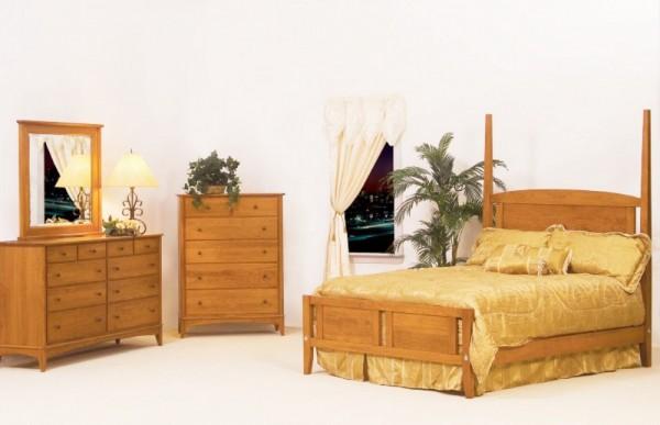 Metro Bedroom Setting Amish Hardwood Solid Hardwood