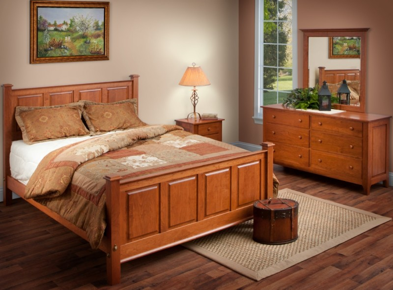 Shaker bedroom set amish handcrafted solid hardwood - Solid hardwood bedroom furniture ...