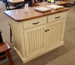 Cottage Kitchen Island With Maple Top