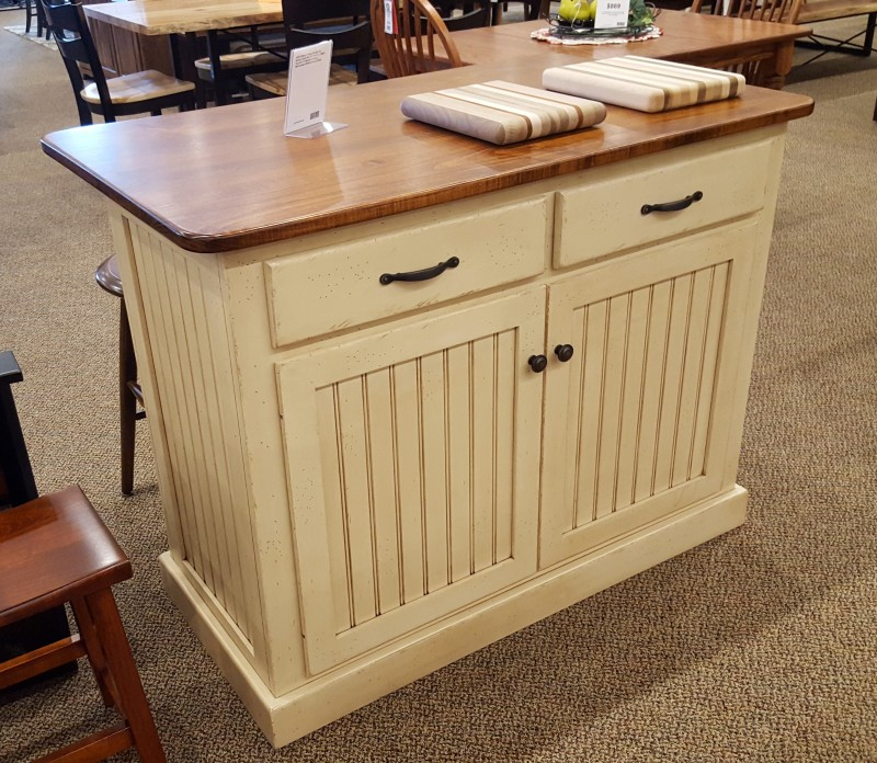 Cottage Kitchen Island With Maple Top ...